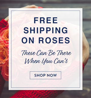 FREE SHIPPING ON ROSES! THESE CAN BE THERE WHEN YOU CAN¿T! SHOP NOW