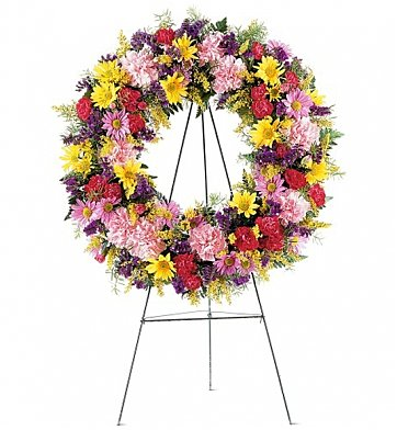 Funeral Flowers: Eternity Wreath