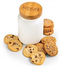 Personalized Keepsake Gifts: Custom Cookie Jar with One Dozen Cookies