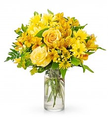 Flower Bouquets: Golden Brilliance