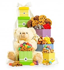 Baby Gift Baskets: The Bear Hug Tower