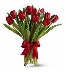 Flower Bouquets: Radiantly Red Tulips