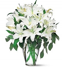 Flower Bouquets: White Lily Remembrance